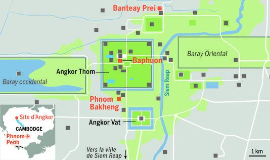 Carte du site d'Angkor