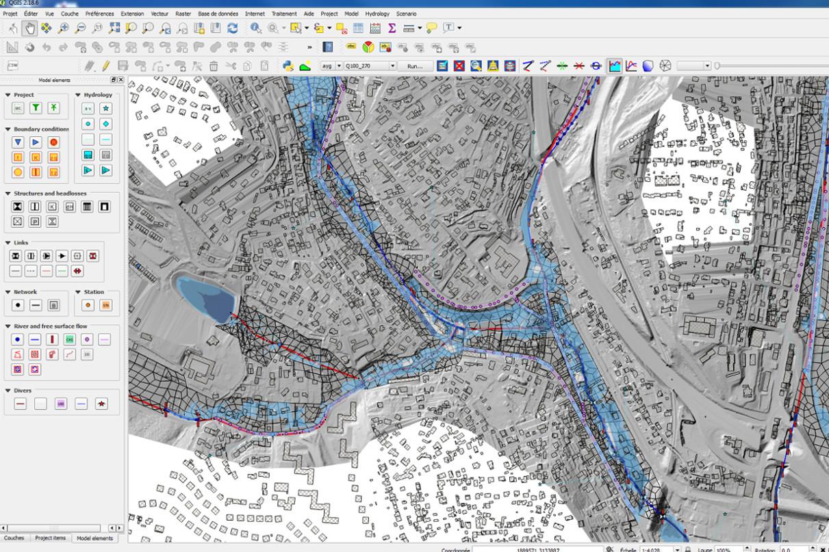 Cartographie des zones inondables sur hydra - Aygalades